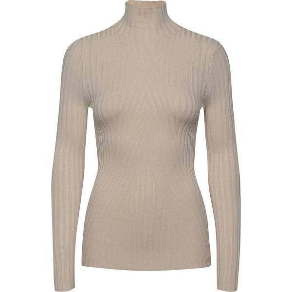 Bilde av Norr - Chelsea LS knit top beige melange